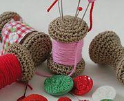 Pin Cushions / Crochet pin cushions