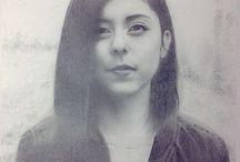 Sketsa / sketsa, menggambar, lukisan, drawing face