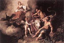 Cuadros espantosos sobre temas de la mitología