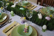 Húsvéti terítések, ételek..