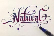 например, каллиграфия