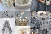 Gray / Gray colors for weddings