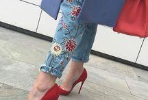 Вышевка джинсы