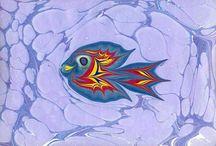 Ebru,marbling,marbled artworks / Unique artworks by Ahmet Saral-Ahmet Saral'dan sıradışı eserler #ebru#artofebru#art#sanat#kunst#resim