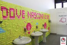 Post- it / unconventional startup event installation