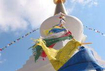 Stupa, Butterflies and Mijas