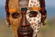 Etiopia / maľba na tvár