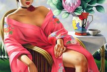 The elegance of the women by CATHERINE ABEL / Art Déco