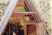 A frame huisjes