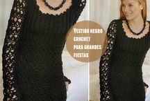 vestidos coctel crochet