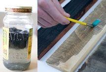 måla trä grått med te och vinäger