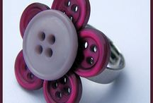 Rings made from buttons