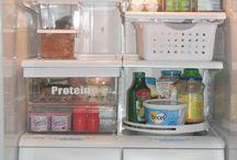 Organização da geladeira
