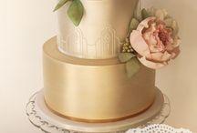 Bolos Dourados De Casamento