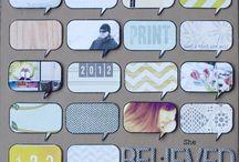 Motif-Speech bubbles / scrapbook and craft inspiration featuring speech bubbles