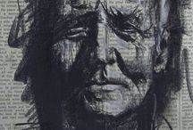 portret inkt waterverf