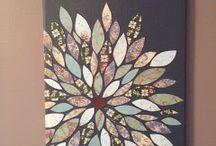 Flower scrapbook art / Flower scrapbook