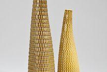 mid century modern art pottery