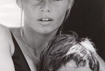 Brigitte Bardot with her Son