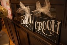 Wedding Signs / Beautiful hand made chalkboard art for your wedding.  Brought to you by the Melissa Frances company and sold in her Etsy shop soon! https://www.etsy.com/shop/MelissaFrances?ref=hdr_shop_menu