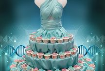 Mannequin cup cake