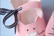 sapatinhos de feltro para bebê
