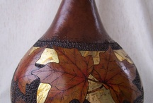Gourd Art and Leaves / by Bernadette Fox