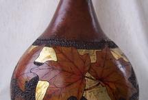 Gourd Art and Leaves / by Bernadette Fox