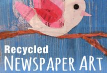 Recycled Crafts for Kids / Teach kids about recycling and repurposing with these fun crafts! We'll make art & crafts from newspaper, plastic bottles, popsicle sticks, party streamers, tissue paper, toilet paper rolls, paper plates, bottle caps, cardboard, egg cartons, kleenex boxes & more.