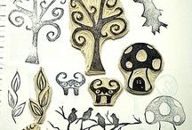 Stamps, Linocut, Woodcut & Screenprinting / by Megan