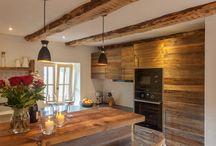 Kuchnia w starym drewnie/Küche in Altholz