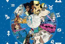 signs of the Zodiac / signos del zodíaco
