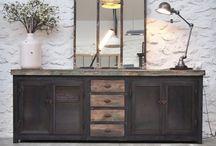 meuble bois metal industriel