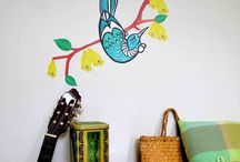 Aotearoa themed wall decals / A selection of our wall decals with a distinctly New Zealand flavour.