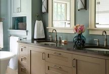 bathrooms and powder rooms / by Lori