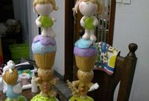 cupe cake porcelana