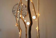 Proyectos que intentar     lamparas hechas con rama de arbol