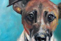 pinturas de perros