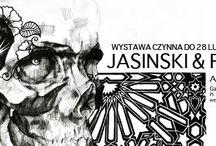 """Wystawa """"Jasinski&friends II"""" przedłużona do końca lutego / Ze względu na duże zainteresowanie odbiorców ekspozycję w Galerii Przy Teatrze (Teatr Narodowy w Warszawie) będzie można obejrzeć do końca lutego. Kuratorem i pomysłodawcą projektu jest Dominik Jasiński. http://artimperium.pl/wiadomosci/pokaz/133,wystawa-jasinskifriends-ii-przedluzona-do-konca-lutego#.UuJ6IxCtbIU"""