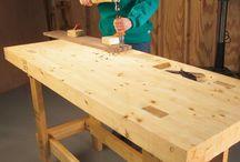 woodworker work bench