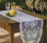 Lace Doilies Table Runners and Wall Hangings / Beautiful lace accents for your home from Heritage Lace.