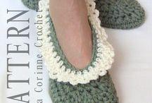 Crochet shoes house