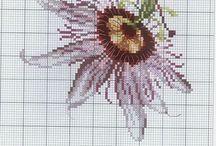Çiçek kanaviçe
