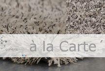 Vloerkleden 'à la Carte' / Een luxueuze serie karpetten. Deze 100% natuurlijke vloerkleden zijn dé eyecatcher in ieder interieur. Maakt u uw kamer af met één van deze karpetten op vloer?