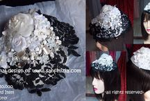 Headpieces Creations / These are my teenage daughter's headpieces creation in order to start helping me with the family business and her own designer career :))