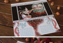 2016 Wall Calendar / Wall Calendar with mixed media paintings by Katarina Trbojevic