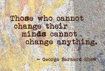 Change your thoughts, change your world, change your life / Quelques images sur le thème de du rôle de nos pensées sur nos émotions, actions et résultats