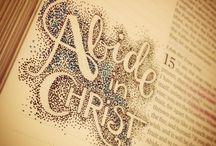 Bible Art Journaling / Art with gods Word