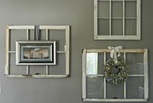 Old window frames