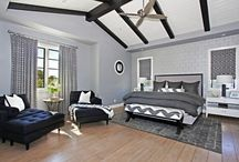 my grey master bedroom